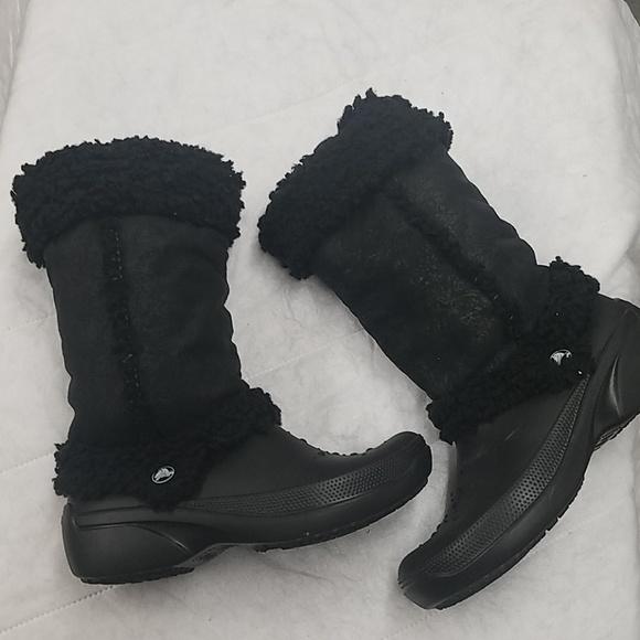 5f475f716b8399 CROCS Shoes - Crocs Nadia boots- Size 8.